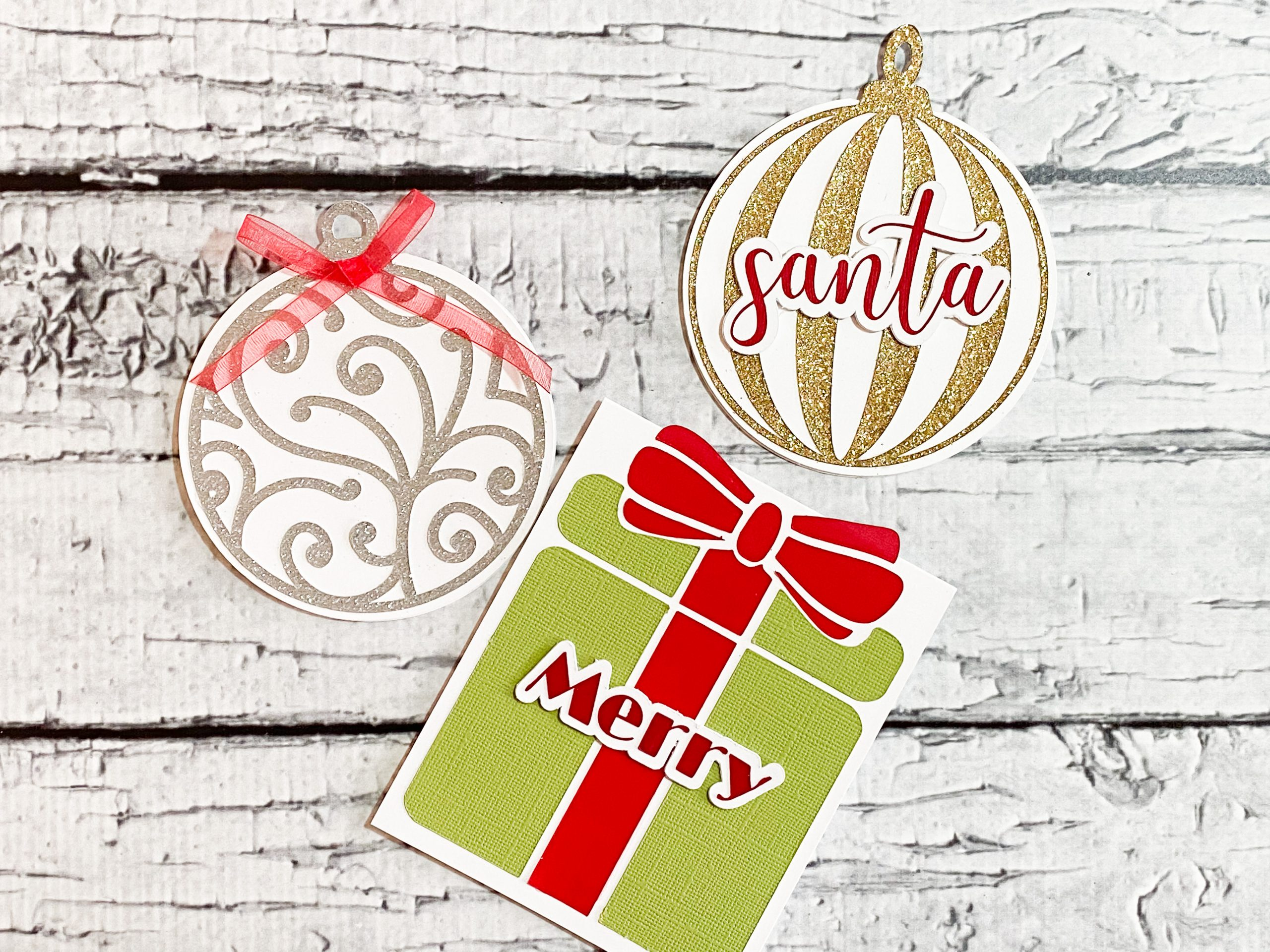Christmas In July Cards With a Cricut Machine! (and a FREE cut file!)