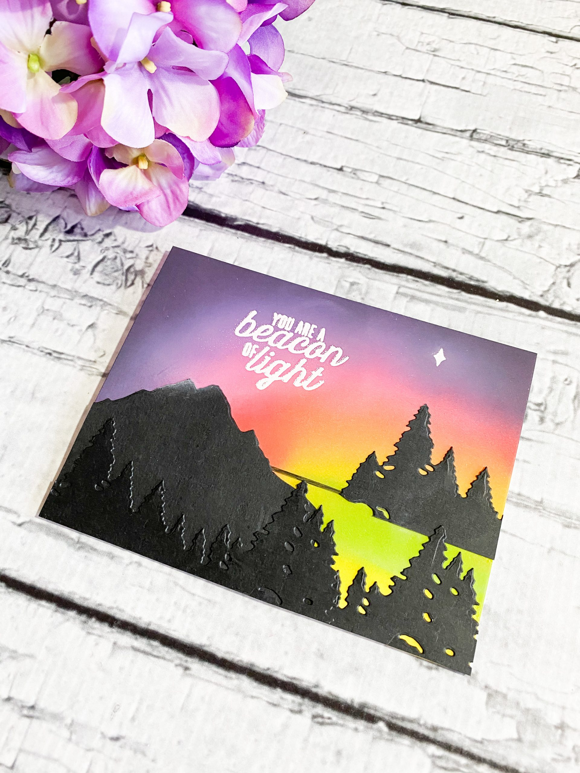 Southern Lights Inspired Card