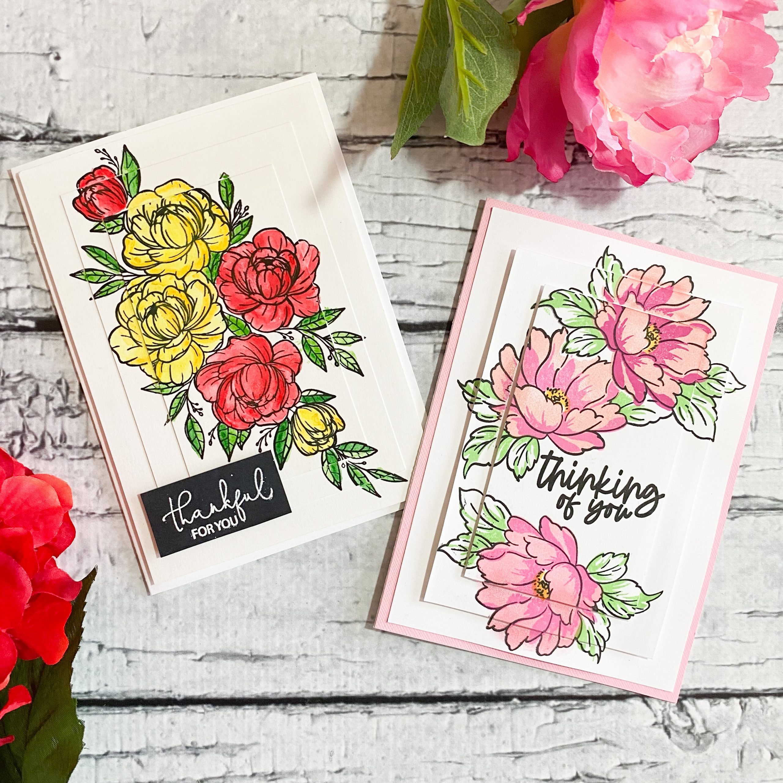 Layered Card Stock Stamping Technique for Cards {New Video}